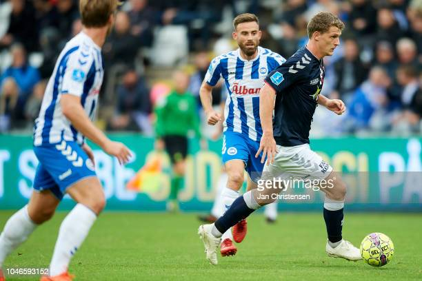Jens Stage of AGF Arhus controls the ball during the Danish Superliga match between OB Odense and AGF Arhus at Nature Energy Park on October 06 2018...