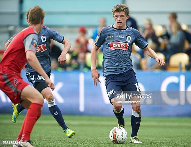 Jens Stage of AGF Arhus in action during the Danish Alka Superliga match between FC Nordsjalland and AGF Arhus at Right to Dream Park on May 21 2016...