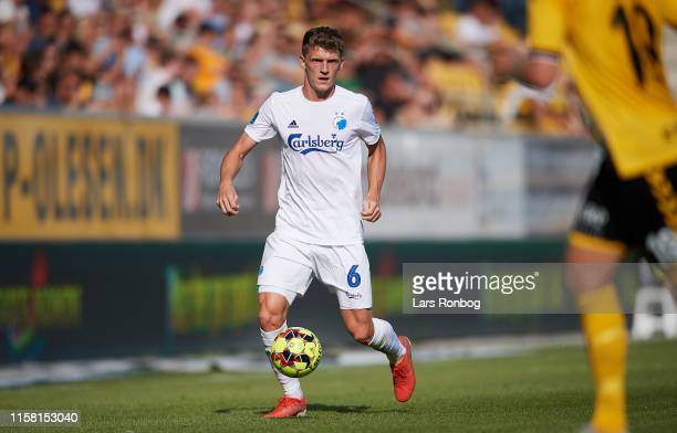 Jens Stage of FC Copenhagen controls the ball during the Danish 3F Superliga match between AC Horsens and FC Copenhagen at CASA Arena on July 27 2019...