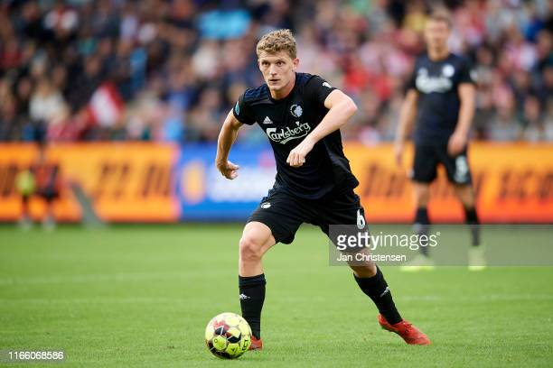 Jens Stage of FC Copenhagen in action during the Danish 3F Superliga match between AaB Aalborg and FC Copenhagen at Aalborg Portland Park on...