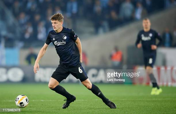 Jens Stage of FC Copenhagen in action during the UEFA Europa League match between Malmo FF and FC Copenhagen at Stadion Malmo on October 3 2019 in...