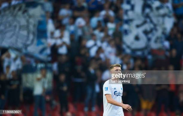 Jens Stage of FC Copenhagen in front of the AGF Aarhus fans during the Danish 3F Superliga match between FC Copenhagen and AGF Aarhus at Telia Parken...