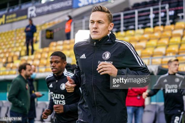 Jens Toornstra of Feyenoord during the UEFA Conference League play-offs match between IF Elfsborg and Feyenoord at the Boras Arena on August 26, 2021...
