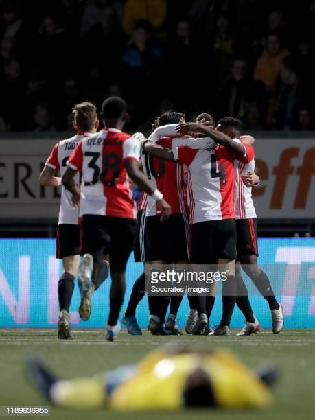 Jens Toornstra of Feyenoord Lutsharel Geertruida of Feyenoord Steven Berghuis of Feyenoord Marcos Senesi of Feyenoord celebrate 12 during the Dutch...