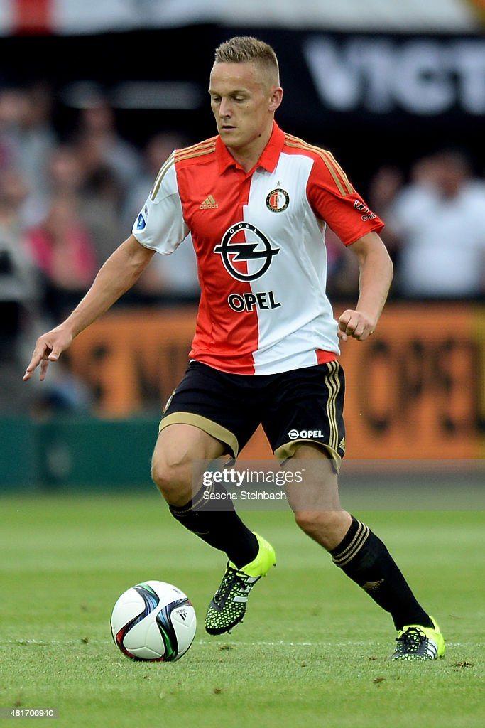 Jens Toornstra of Feyenoord runs with the ball during the pre season friendly match between Feyenoord Rotterdam and Southampton FC at De Kuip on July 23, 2015 in Rotterdam, Netherlands.
