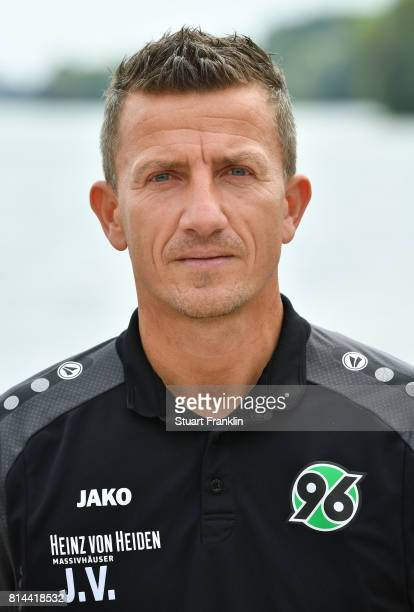 Jens Vergers physiotherapist of Hannover 96 poses during the team presentation at on July 14 2017 in Hanover Germany