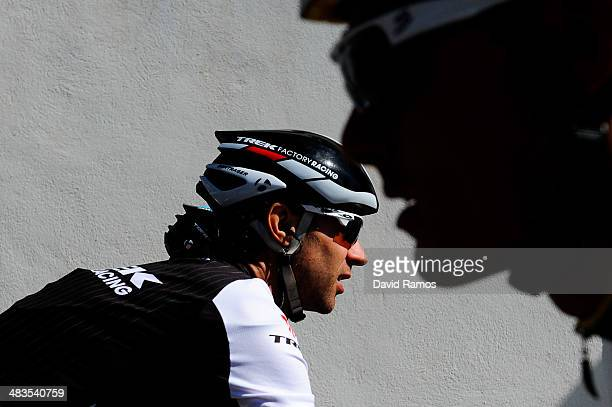 Jens Voight of Germany and Team Trek Factory Racing looks on before Stage Three of Vuelta Al Pais Vasco from Urdax to VitoriaGasteiz on April 9 2014...