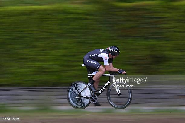 Jens Voigt of Germany and Trek Factory Racing during the 557km Prologue stage of the Tour de Romandie on April 29 2014 in Ascona Switzerland