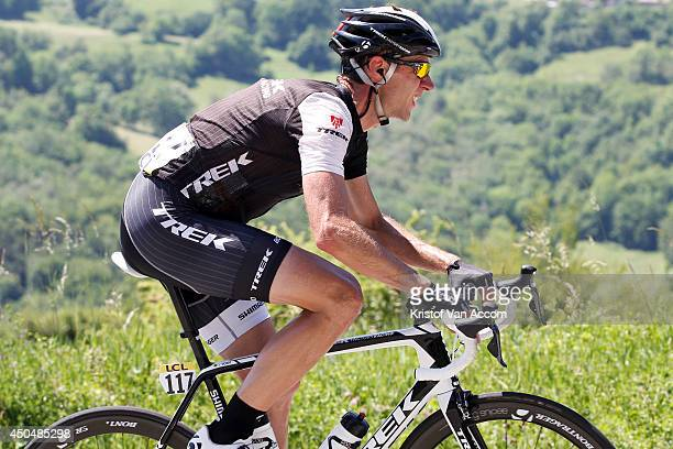 Jens Voigt of Germany and Trek Factory Racing in action during the fifth stage of the Criterium du Dauphine on June 12 2014 between Sisteron and La...