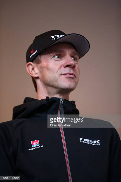 Jens Voigt of Germany riding for Trek Factory Racing stands on stage during the Team Presentations for the 2014 USA Pro Challenge on August 16 2014...