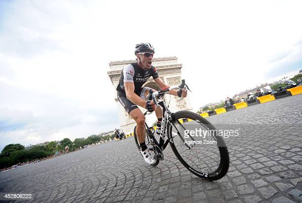 Jens Voigt of Team Trek Factory Racing in Paris during Stage 21 of the Tour de France on Sunday 27 July Paris France