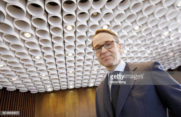 Jens Weidmann president of the Deutsche Bundesbank arrives for a news conference to announce the German central banks annual report in Frankfurt...
