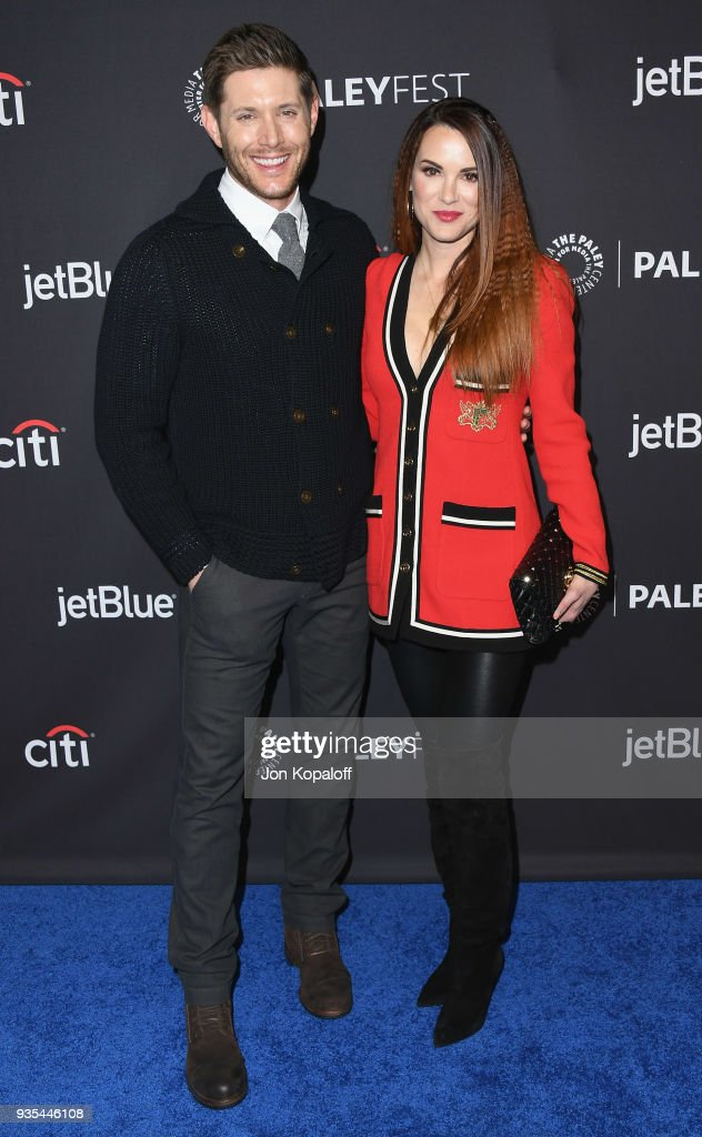 Jensen Ackles and Danneel Ackles attend the 2018 PaleyFest Los Angeles - CW's 'Supernatural' at Dolby Theatre on March 20, 2018 in Hollywood, California.