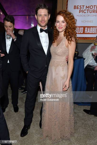 Jensen Ackles and Danneel Ackles attend The Walt Disney Company 2020 Golden Globe Awards PostShow Celebration at The Beverly Hilton Hotel on January...