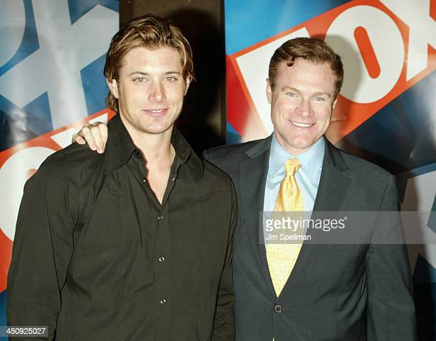 Jensen Ackles and David Keith during 20032004 FOX Upfront After Party at Grand Central Terminal in New York City New York United States