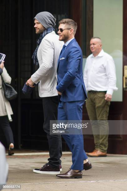 Jensen Ackles and Jared Padalecki are seen in Tribeca on May 17 2018 in New York City