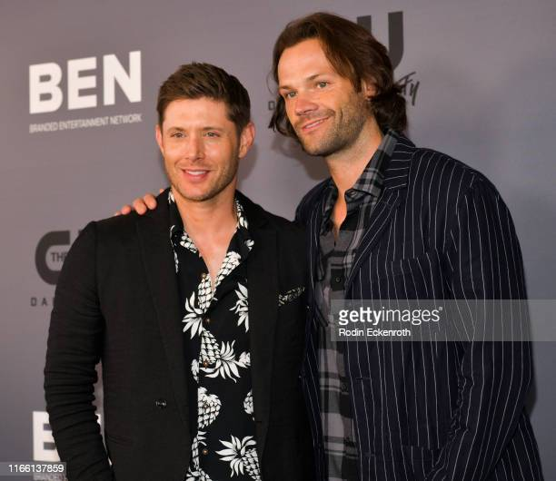 Jensen Ackles and Jared Padalecki attend The CW's Summer 2019 TCA Party sponsored by Branded Entertainment Network at The Beverly Hilton Hotel on...