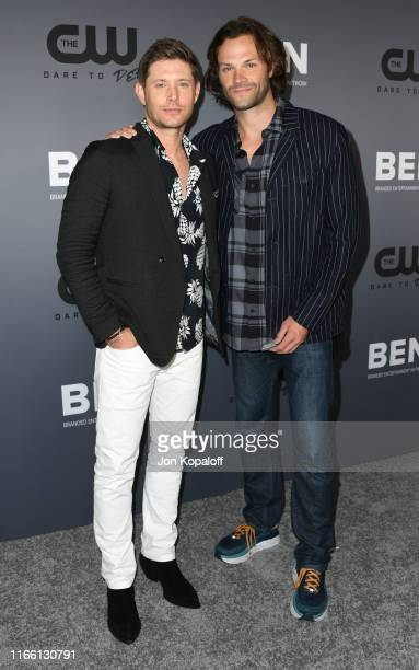Jensen Ackles and Jared Padalecki attend the The CW's Summer 2019 TCA Party sponsored by Branded Entertainment Network at The Beverly Hilton Hotel on...