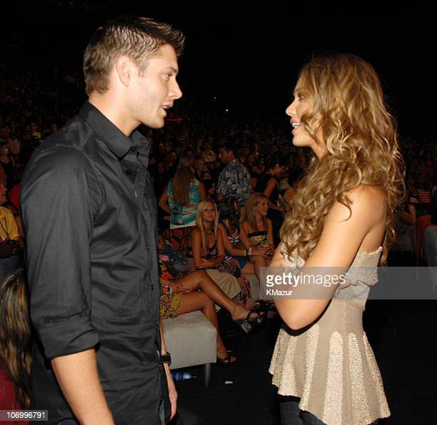 Jensen Ackles and Jessica Alba during 2006 Teen Choice Awards Audience and Backstage at Gibson Amphitheatre in Universal City California United States