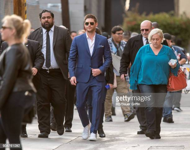 Jensen Ackles is seen at 'Jimmy Kimmel Live' on March 19 2018 in Los Angeles California