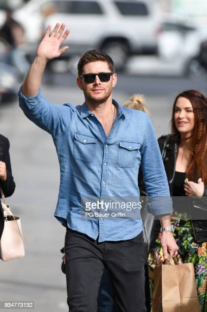Jensen Ackles is seen at Jimmy Kimmel Live on March 19 2018 in Los Angeles California