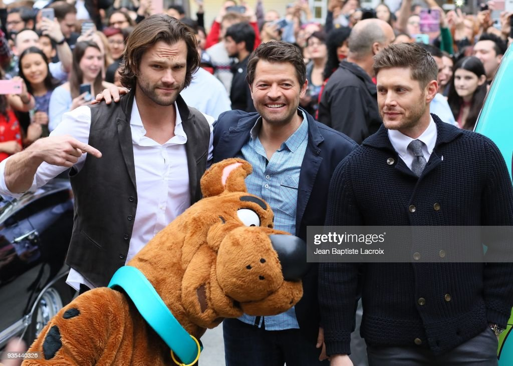 Jensen Ackles, Jared Padalecki and Misha Collins attend the 2018 PaleyFest Los Angeles screening and panel discussion of CW's 'Supernatural' on March 20, 2018 in Hollywood, California.