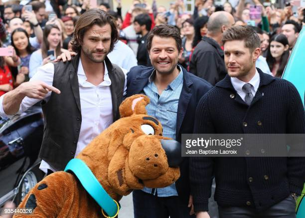 Jensen Ackles Jared Padalecki and Misha Collins attend the 2018 PaleyFest Los Angeles screening and panel discussion of CW's 'Supernatural' on March...