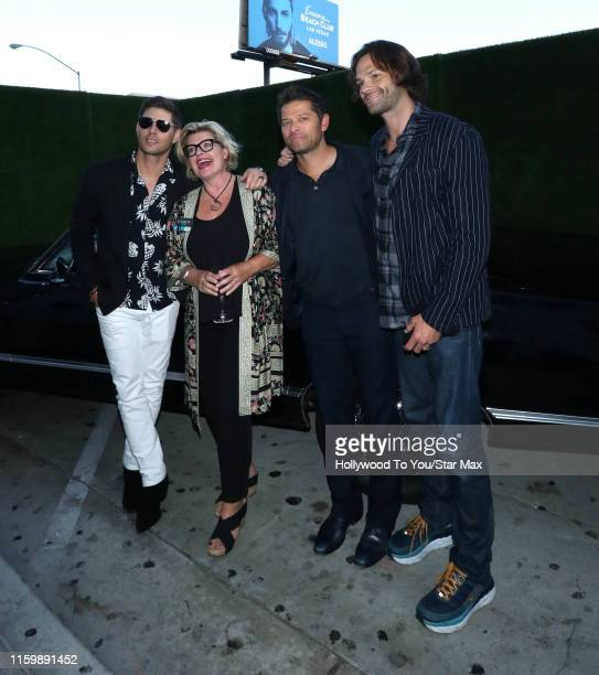 Jensen Ackles Mischa Collins and Jared Padalecki are seen on August 4 2019 at Los Angeles