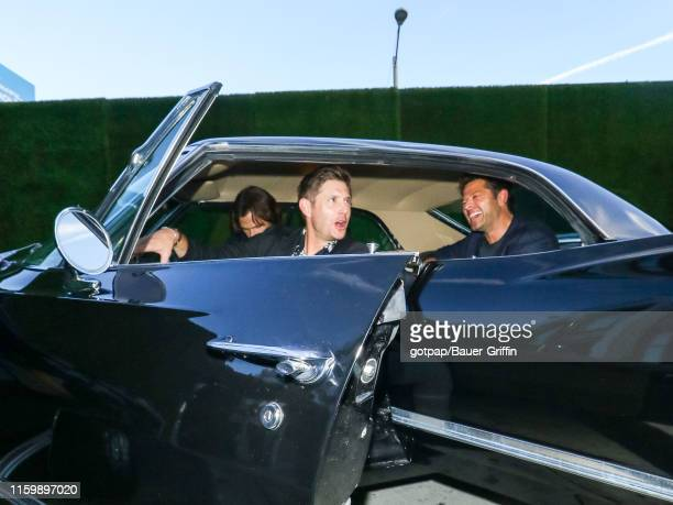 Jensen Ackles Mischa Collins and Jared Padalecki are seen on August 04 2019 in Los Angeles California