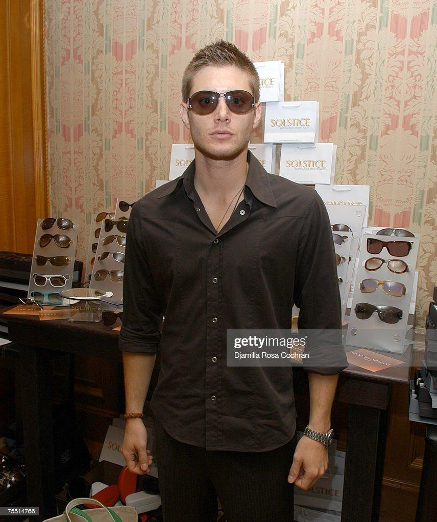 Jensen Ackles wearing Yves Saint Laurent 6049S Sunglasses at the Ritz Carlton in New York City, New York
