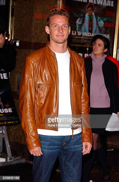 Jensen Button arrives at the premiere of 'Ali G Indahouse' in London