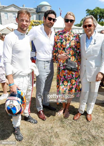 Jensen Button Joseph Bates Jodie Kidd and Lord March attend Cartier Style Et Luxe at The Goodwood Festival Of Speed Goodwood on July 15 2018 in...
