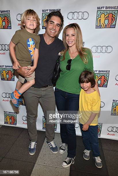 Jensen Gering actor Galen Gering Jenna Gering and Dillon Phoenix Gering attends the Best Buddies' Bowling For Buddies Event at Lucky Strike Lanes at...