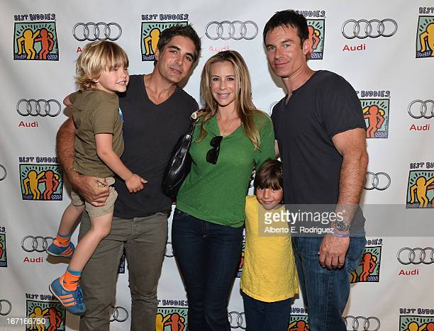 Jensen Gering actor Galen Gering Jenna Gering Dillon Phoenix Gering and actor Patrick Muldoon attends the Best Buddies' Bowling For Buddies Event at...