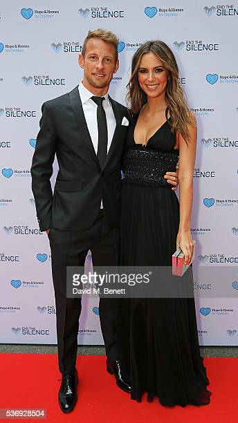Jenson Button and Brittny Ward attend the 'End of Silence' charity event at Abbey Road Studios in aid of Hope and Homes for Children on June 1 2016...