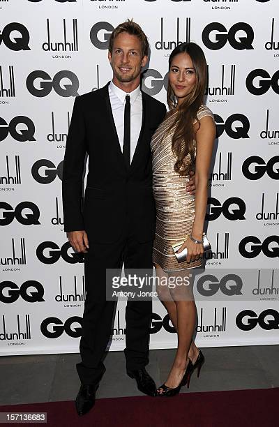 Jenson Button And Girlfriend Jessica Michibata Arrive At The 2009 Gq Men Of The Year Awards At The Royal Opera House Covent Garden