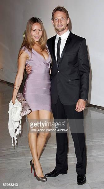 Jenson Button and girlfriend Jessica Michibata arrive for the F1 Gala Dinner on May 24 2009 in Monte Carlo Monaco