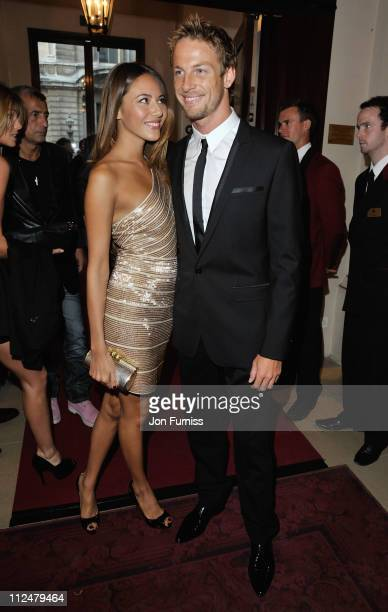 Jenson Button and girlfriend Jessica Michibata arrive for the GQ Men of the Year awards at The Royal Opera House on September 8 2009 in London England