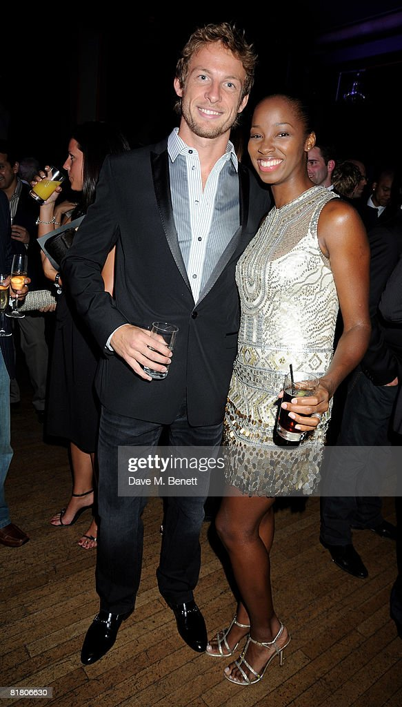 Jenson Button and Jamelia attends the F1 Party in aid of the Great Ormond Street Hospital, at the Bloomsbury Ballroom on July 2, 2008 in London, England.