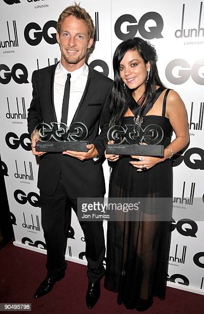 Jenson Button and Lily Allen attends the 2009 GQ Men Of The Year Awards at The Royal Opera House on September 8 2009 in London England