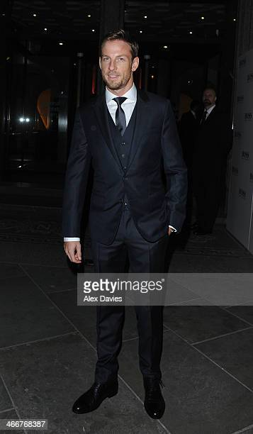 Jenson Button Arriving at the national portrait gallery sighting on February 3 2014 in London England