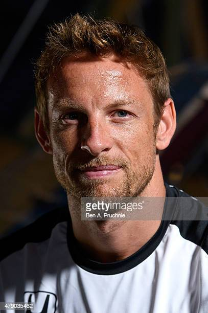 Jenson Button attends a photocall to launch Santander Cycle tours at the Science Museum on June 30 2015 in London England
