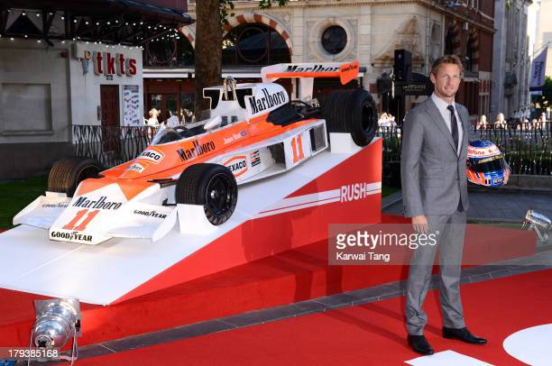 Jenson Button attends the World Premiere of 'Rush' at the Odeon Leicester Square on September 2 2013 in London England