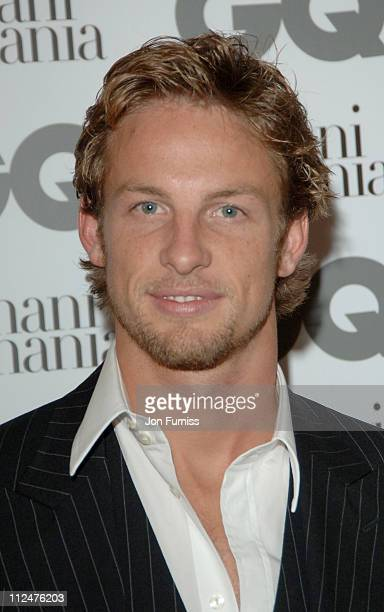 Jenson Button during 2005 GQ Men of the Year Awards Inside Arrivals at Royal Opera House in London Great Britain