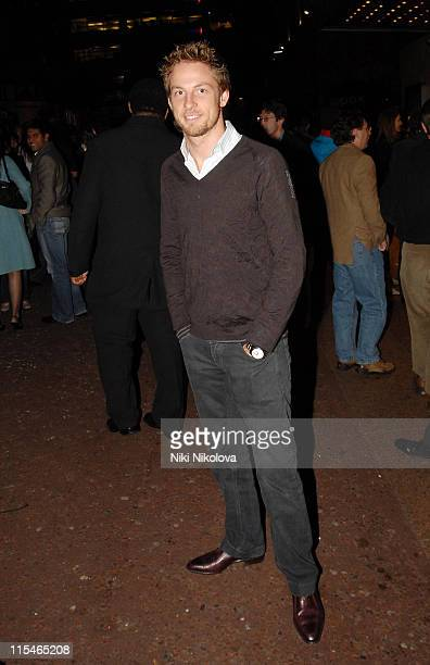 Jenson Button during ''The Prestige'' London Premiere After Party at Embankment in London Great Britain