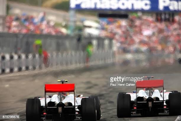 Jenson Button, Lewis Hamilton, McLaren-Mercedes MP4-25, Grand Prix of Turkey, Istanbul Park, 30 May 2010. Jenson Button and teammate Lewis Hamilton...