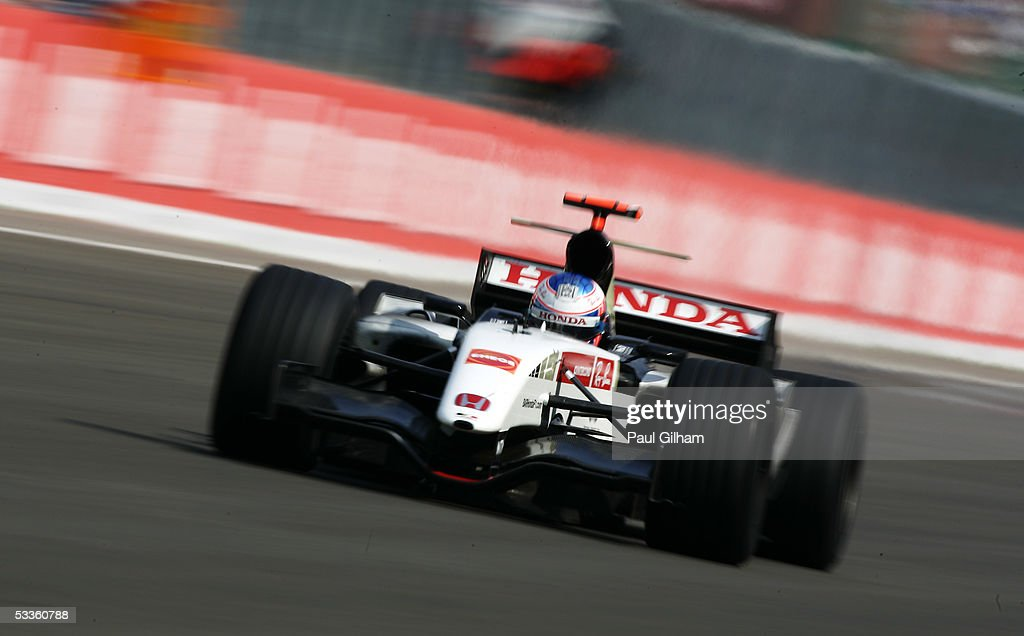 Jenson Button of England and B.A.R. - Honda during the Hungarian F1 Grand Prix at the Hungaroring on July 31, 2005 in Budapest, Hungary.
