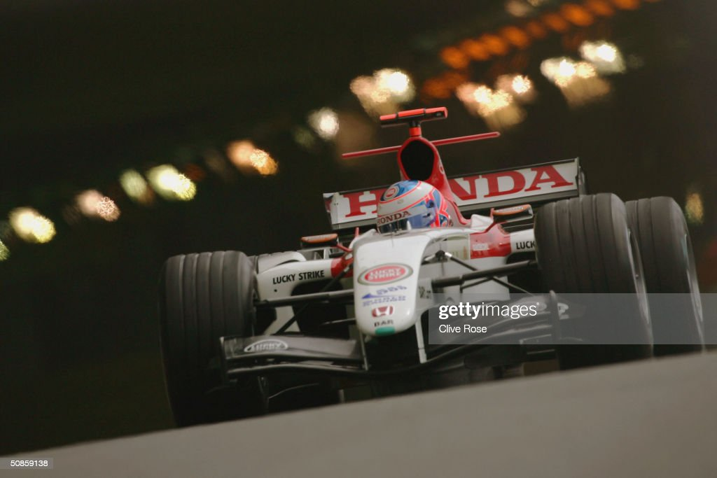 Jenson Button of Great Britain and BAR in action during practice for the Monaco F1 Grand Prix on May 20, 2004, in Monte Carlo, Monaco.
