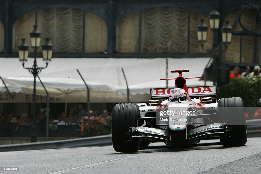Jenson Button of Great Britain and BAR in action during practice for the Monaco F1 Grand Prix May 20, 2004, in Monte Carlo, Monaco.