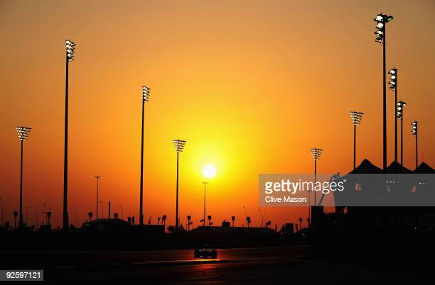 Jenson Button of Great Britain and Brawn GP drives during the Abu Dhabi Formula One Grand Prix at the Yas Marina Circuit on November 1, 2009 in Abu...